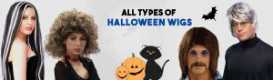 All types of halloween wigs