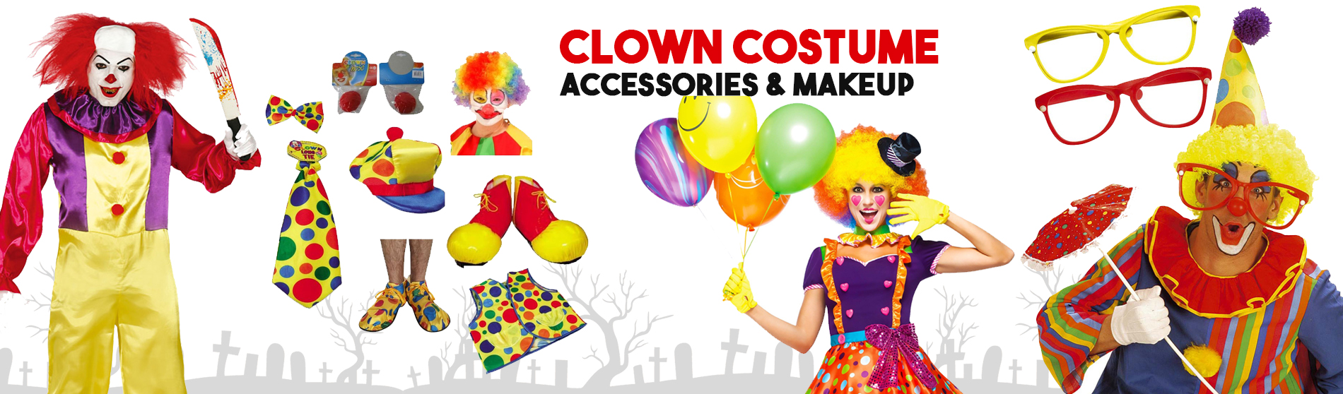 Clown-Costume-Accessories-Makeup