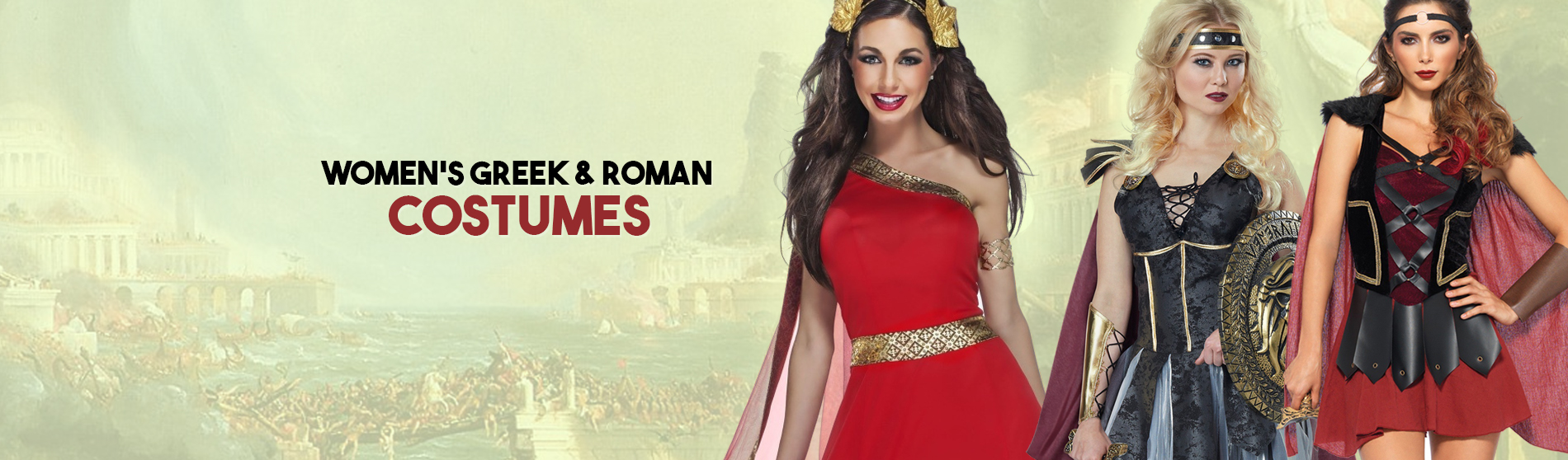 Women Greek And Roman Costumes