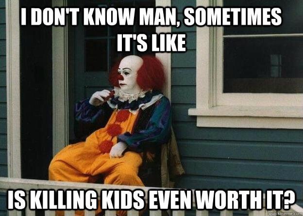 halloween memes scary clowns