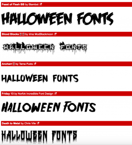 Halloween Fonts 2