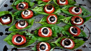 Halloween Food Dinner Caprese Salad