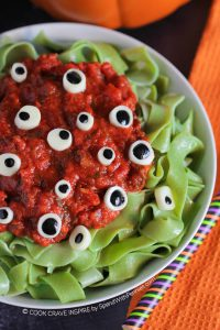 Halloween Food Dinner Pasta Eyeballs