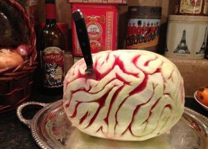 Halloween Food Dinner Watermelon Brain