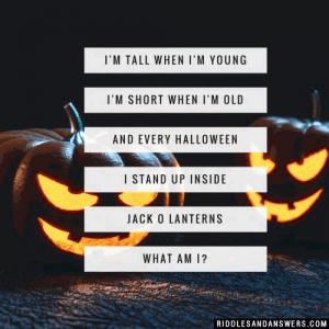 Halloween Riddles Jack O Lantern