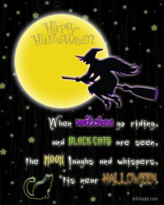 Halloween Riddles Witch Broom