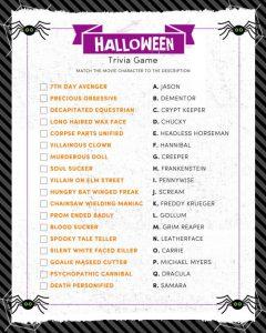 Halloween Trivia Game