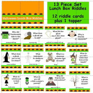 Halloween Trivia Lunch Box Riddles