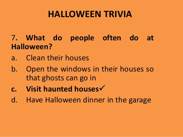 halloween trivia question riddle - Halloween Monster Trivia