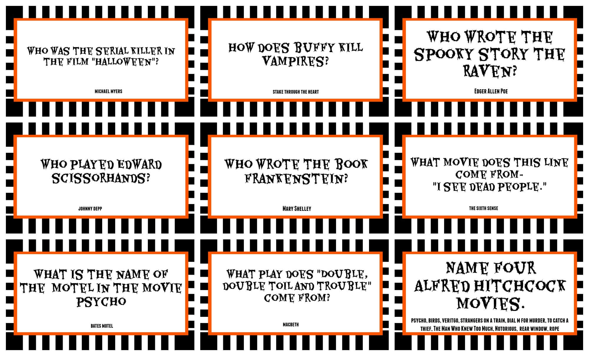 halloween trivia questions riddles - Halloween Trivia With Answers