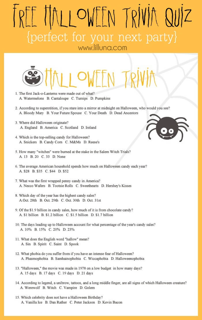 Halloween Trivia riddles questions