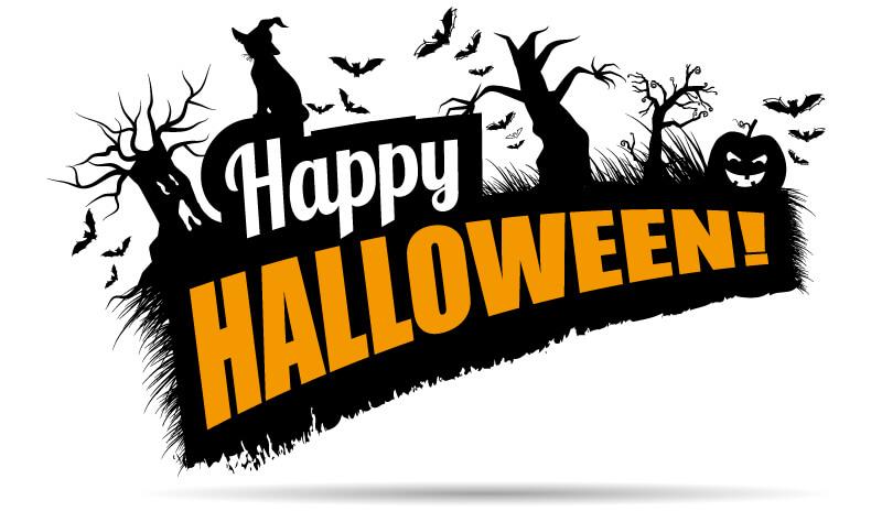 Merveilleux Happy Halloween Backdrop Pumpkins