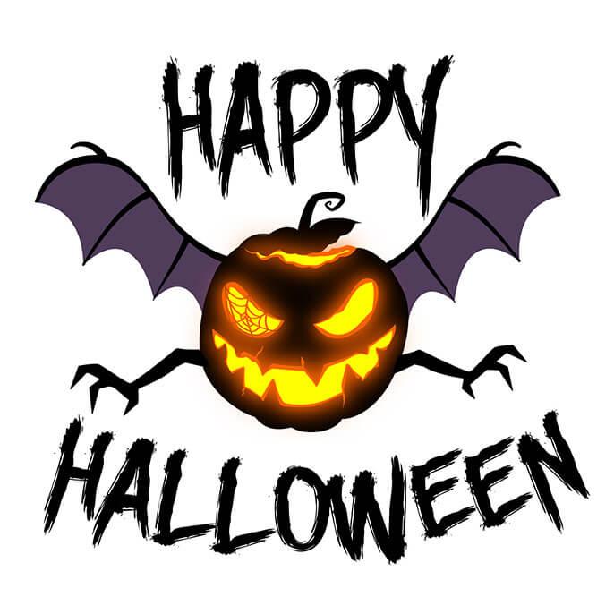 happy halloween pumpkin bat - Happy Halloween Com