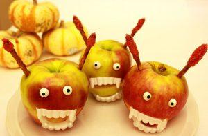 Healthy Halloween Apples