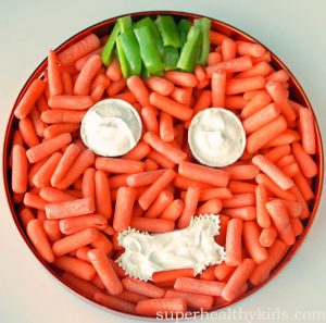 Healthy Halloween Treats Carrot Plate