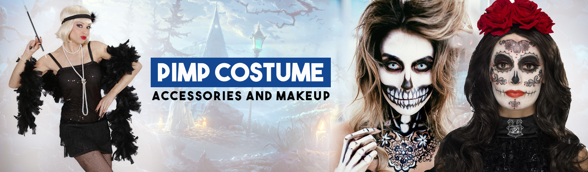 Pimp Costume Accessories and Makeup