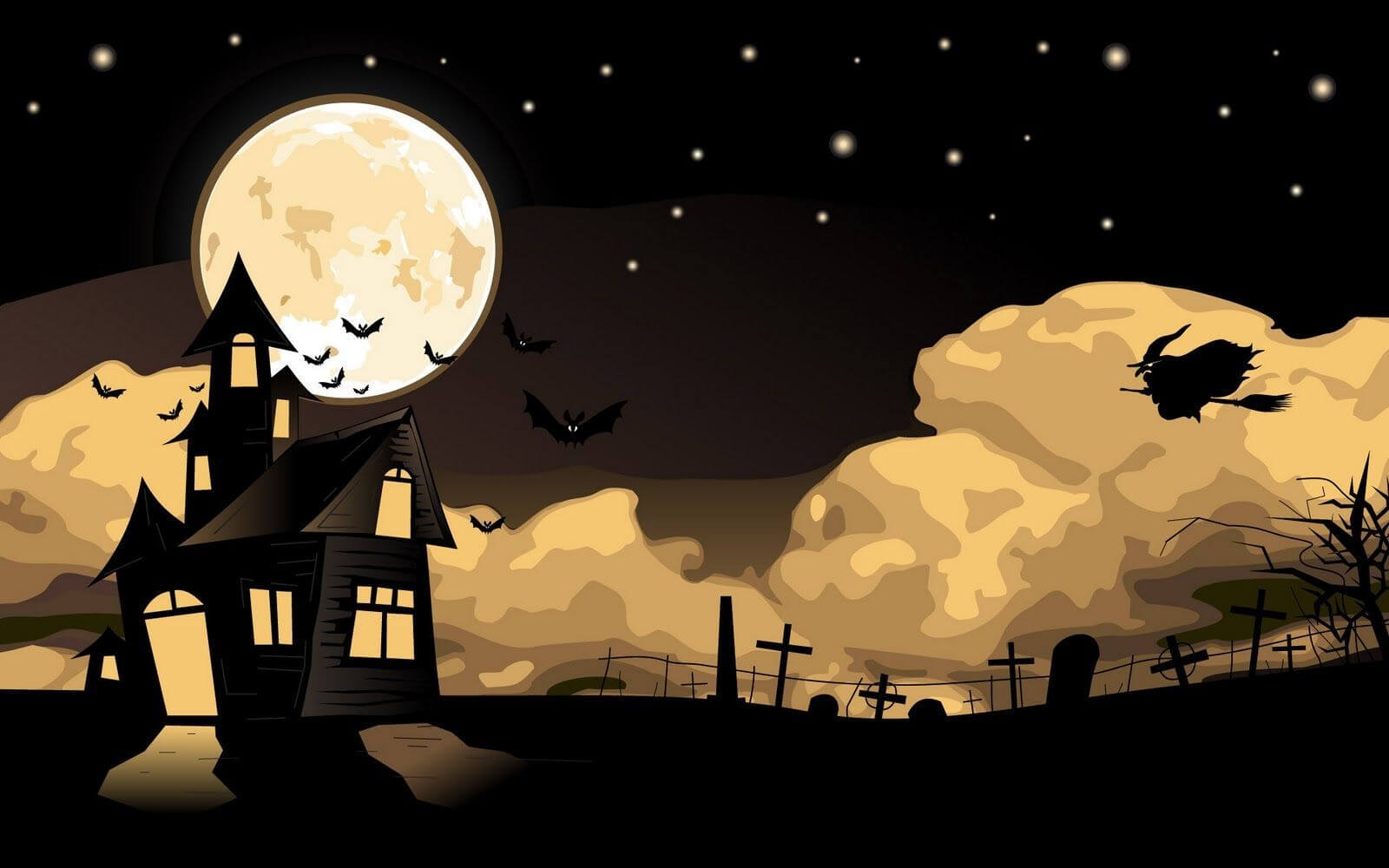 halloween screensaver spooky night