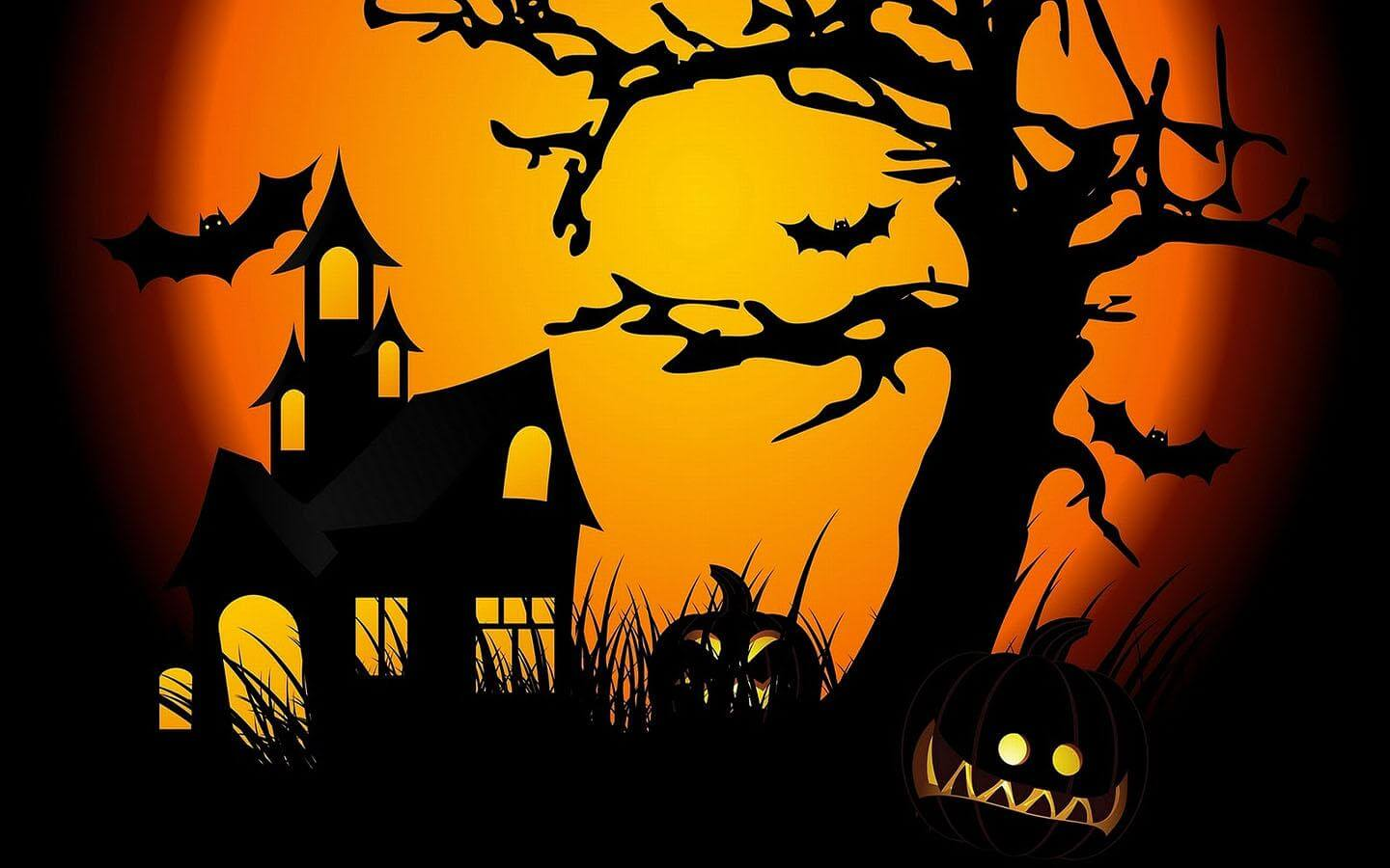 Happy Halloween Wallpaper Scary Trees