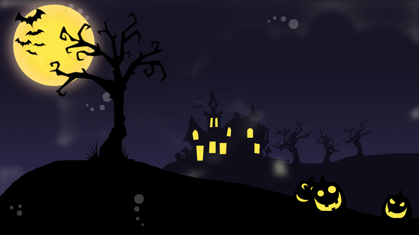 Happy Halloween Wallpaper Spooky Moon