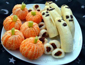 Healthy Halloween Treat Fruit Design
