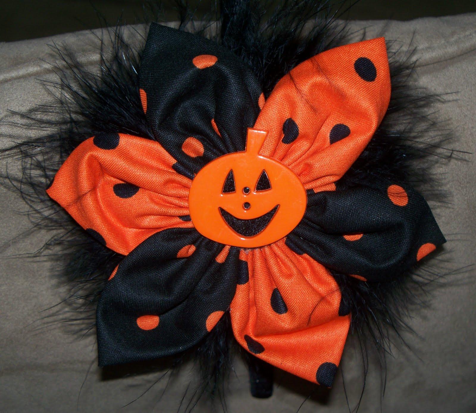 Spooky Hair Bows For Halloween